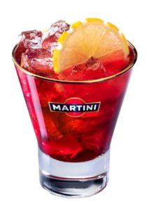 Коктейль с мартини россо