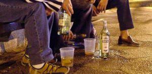 распитие спиртного